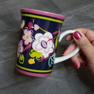 Vera Bradley floral tea cup